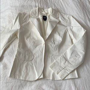 Gap Cream Cotton Stretch Blazer - Size 6
